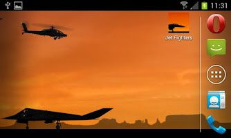 Screenshot of Jet Fighters -Live- Wallpaper