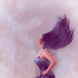 Welcome the Morning by Dee Tee - Digital Art People ( hair flick, kneel, flick, model, powder, brunette, hair )