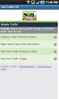 Screenshot of VIC Traffic View