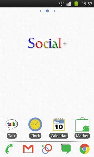 Social+ Theme 4 GO Launcher EX