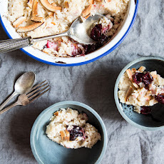 Coconut Rice Pudding With Roasted Cherries