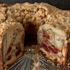 Port-Cherry Swirled Coffee Cake with Almond Streusel Recipe