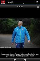 Screenshot of Arsenal Latest News Updates