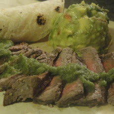 Brazilian Marinated Steaks With Chile Lime Sauce