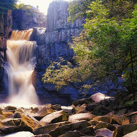 High Force by Phil Robson - Landscapes Waterscapes ( durham, waterfall, high force, teesdale, rockpool )