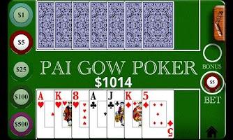 Screenshot of Pai Gow Poker