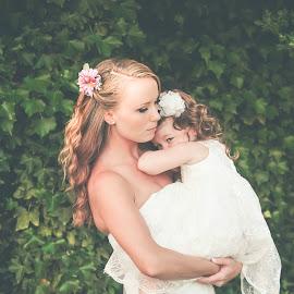 Shy flowergirl by Jenny Hammer - Wedding Other ( nature, wedding, bride, people, flowergirl, pretty )