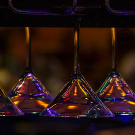 Hanging Glass at the Bar by Manuel Sierra - Food & Drink Alcohol & Drinks ( refletions, glass, dring, bar )