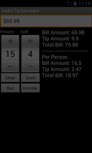Useful Tip Calculator