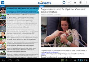 Screenshot of El Debate RSS