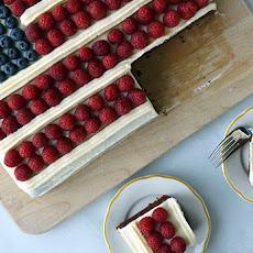 July 4th Flag Cake