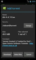 Screenshot of tTorrent Pro (for x86)