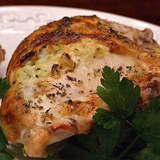 Baked Chicken Breasts Stuffed with Zucchini and Goat Cheese