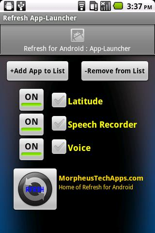 Refresh App-Launcher