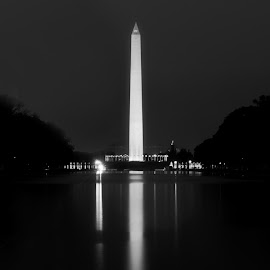Washington Monument at Night by Colin Gilyeat - Buildings & Architecture Statues & Monuments ( washington monument, night )