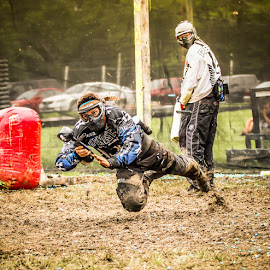 Paintball in the mud  by Jason Matthews - Sports & Fitness Other Sports ( paintball, sports, sport )