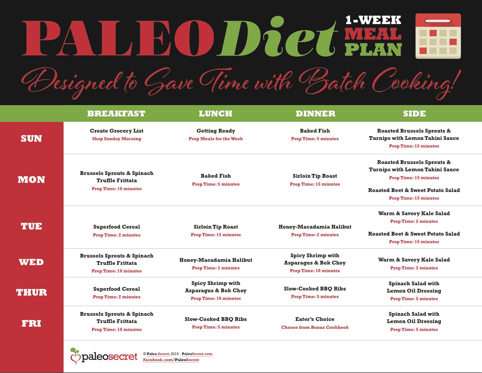 paleo diet meal plan free pdf