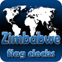 Zimbabwe flag clocks icon