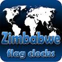 Zimbabwe flag clocks