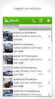 Screenshot of Car Market Switzerland