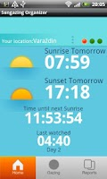 Screenshot of Sungazing Organizer