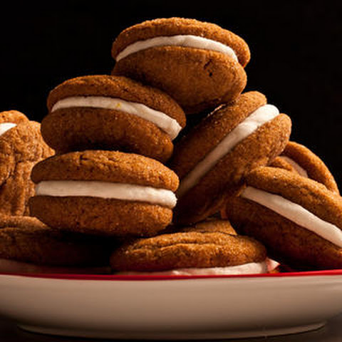 Gingersnap Sandwich Cookies with Lemon Filling