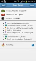 Screenshot of BMTC Routes