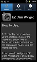 Screenshot of EZ Cam Widget