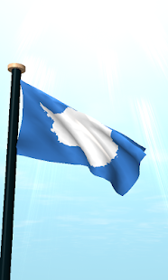 Antarctica Flag 3D Wallpaper - screenshot