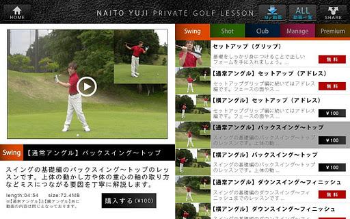 内藤雄士のPRIVATE GOLF LESSON
