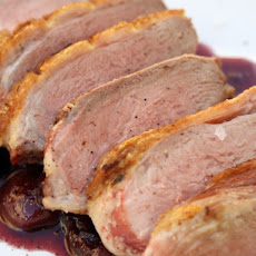 Sweet-Tart Duck Breasts with Fresh Cherry Sauce