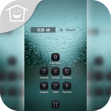 Raindrop Drizzle Window Theme