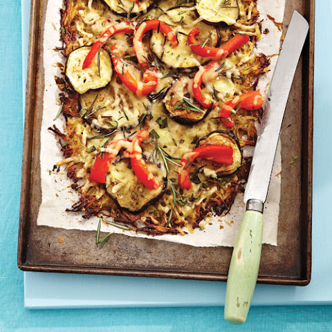 Potato-Crust Pizza with Roasted Eggplant & Peppers