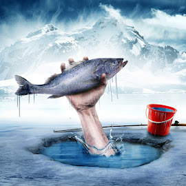Fisherman by Bang Munce - Digital Art Things