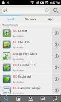 Screenshot of GO Search Widget