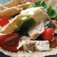 Grilled Lemon Chicken Wrap With Chilli Mayonnaise