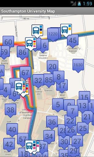 Southampton University Map