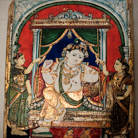 Art in India by Dolors Bas Vall - Painting All Painting ( art, painting, ganesha )