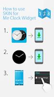 Screenshot of LED clock widget C-Me Clock