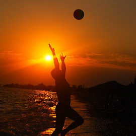 by Maja  Marjanovic - Sports & Fitness Other Sports ( sunset, sports, sea, beach, sun,  )