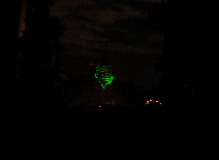 Logo formed using green laser