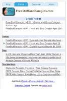 Screenshot of Printable Coupons and Rebates