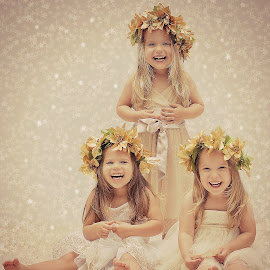 Excited Christmas Angels by Lucia STA - Babies & Children Child Portraits