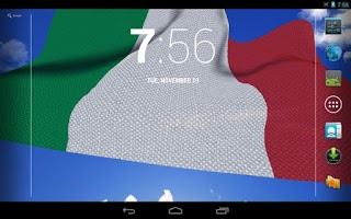 Screenshot of 3D Italy Flag Live Wallpaper