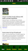 Screenshot of Oregon Football