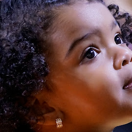 The Face by Barbara Brock - Babies & Children Children Candids ( child, face, girl, african american child, toddler, eyes )