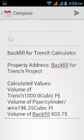 Screenshot of Backfill Trench Calculator
