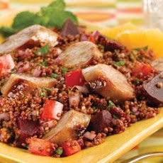 Inca Red Quinoa Salad with Sweet Apple Chicken Sausage
