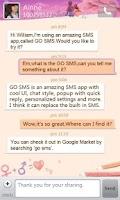 Screenshot of GO SMS Pro Valentine love them