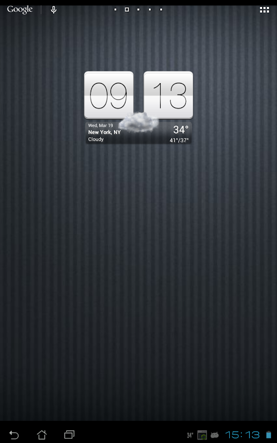 Sense V2 Flip Clock & Weather Screenshot 8